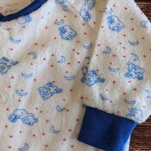 Vintage Teddy Bear Terry Cloth Sleeper